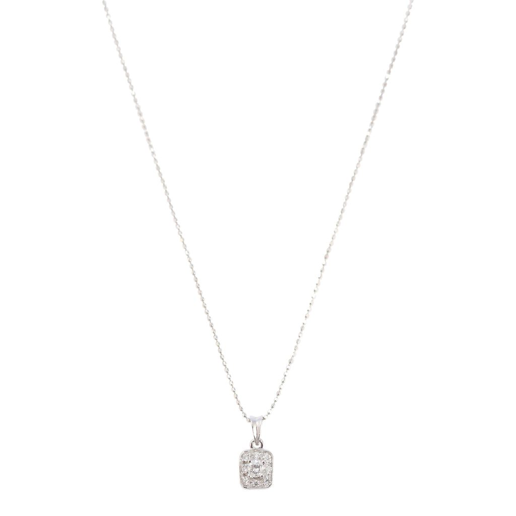 Diamond Pave Medallion Necklace