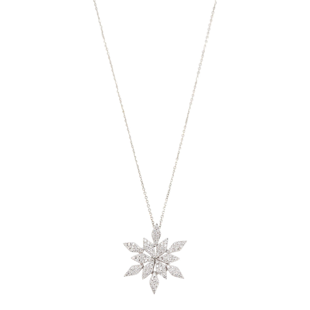 18k White Gold Diamond Snowflake