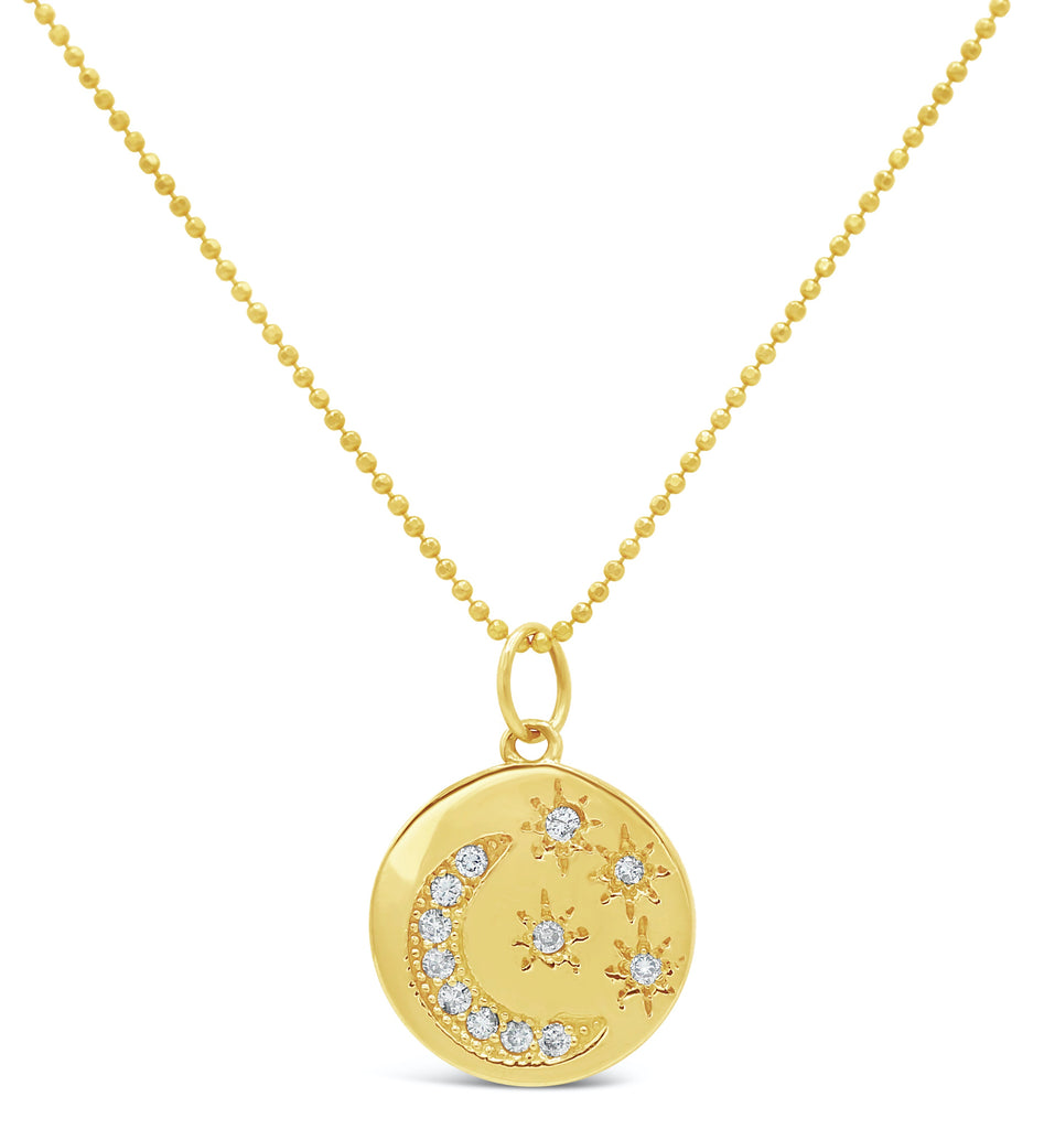 Starry Night Medallion Diamond 14k Necklace