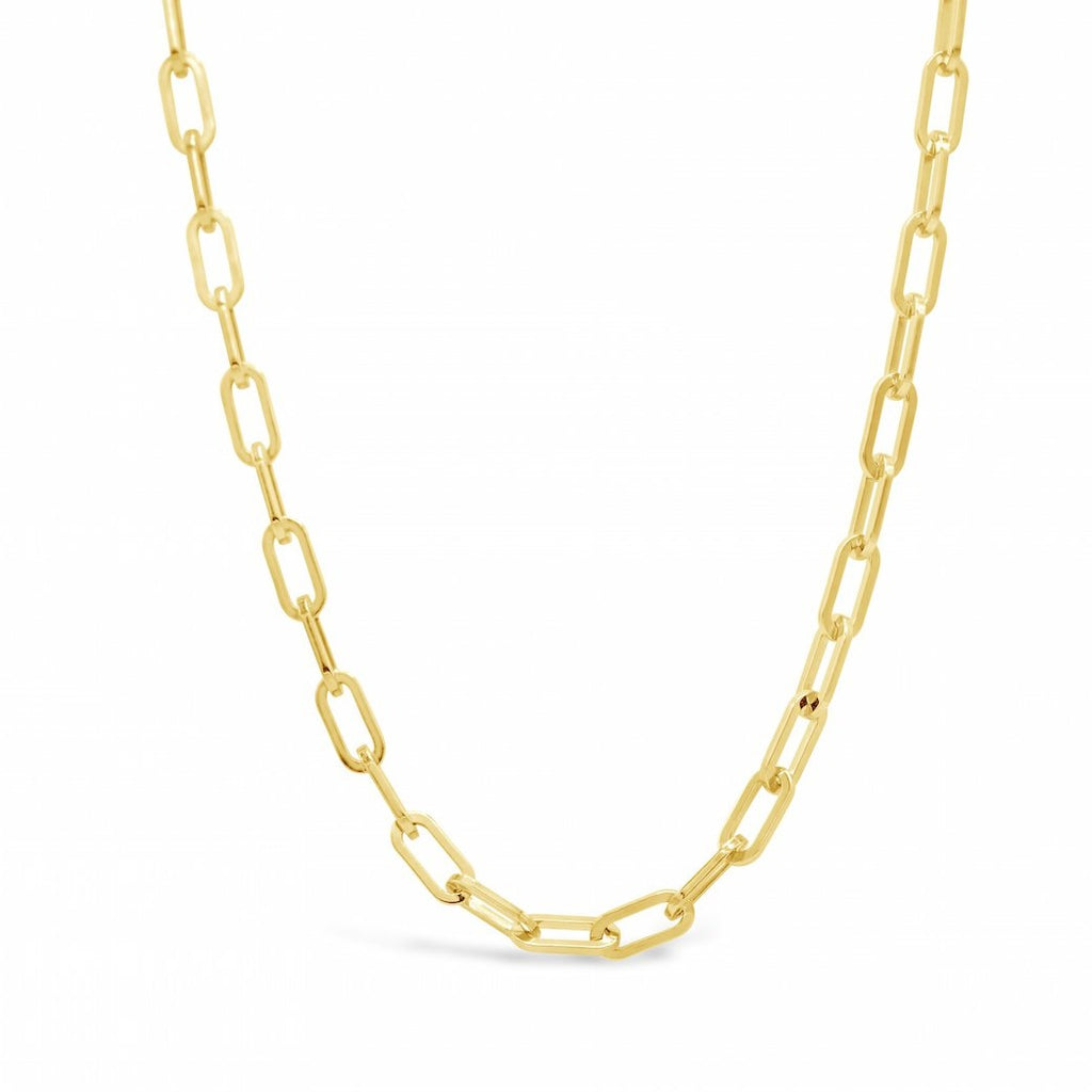 Paperclip Chain - 18kt Gold plated Sterling Silver Vermeil Chain 18inches Necklace