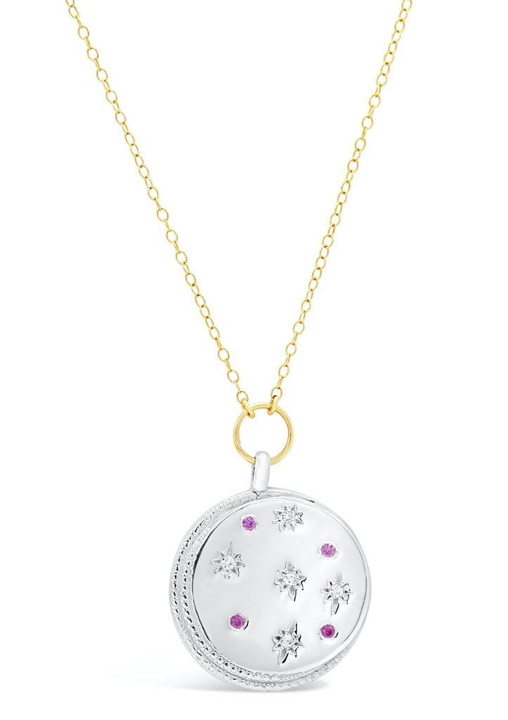 Diamond and Ruby Medallion Necklace