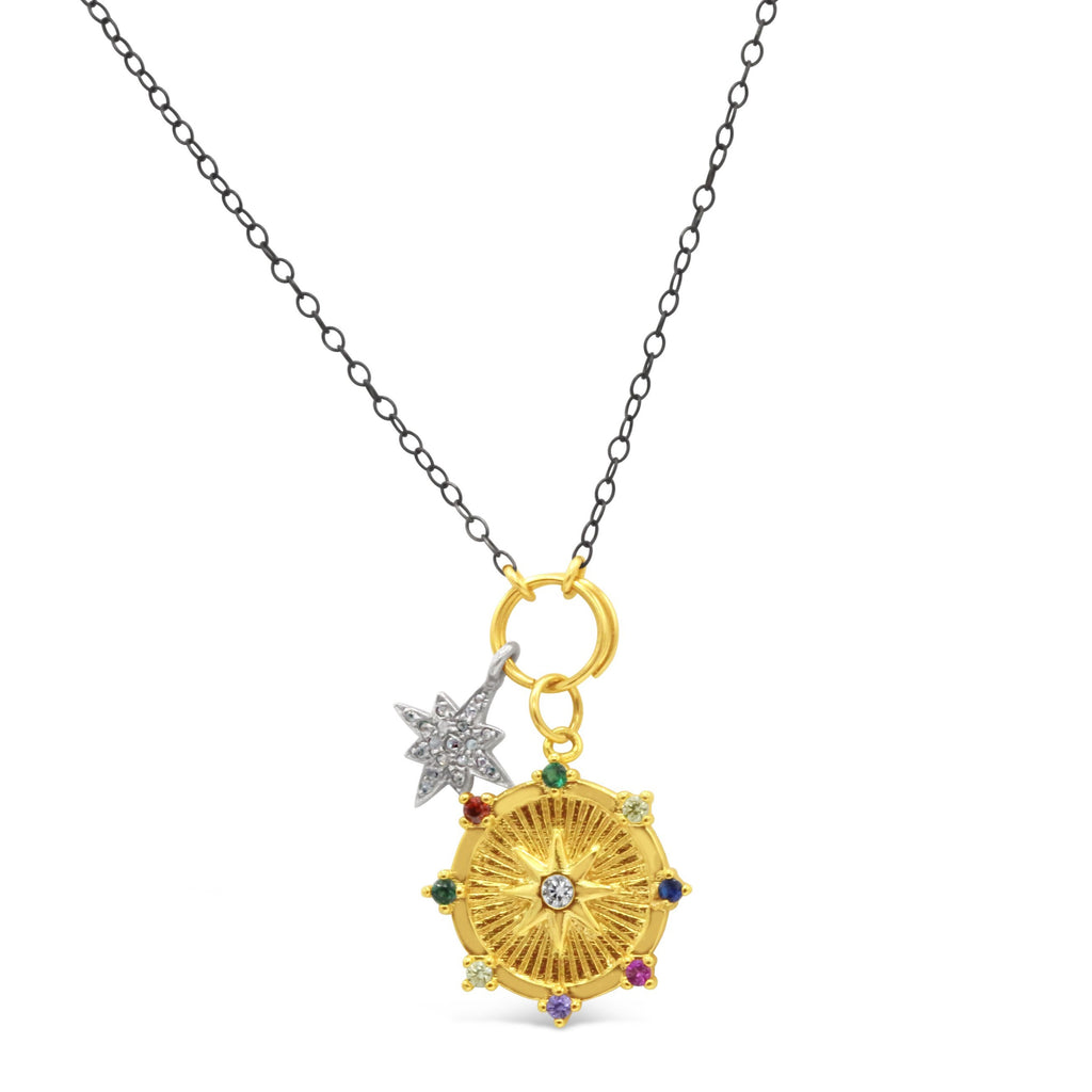 Bethlehem North Star Medallion Necklace