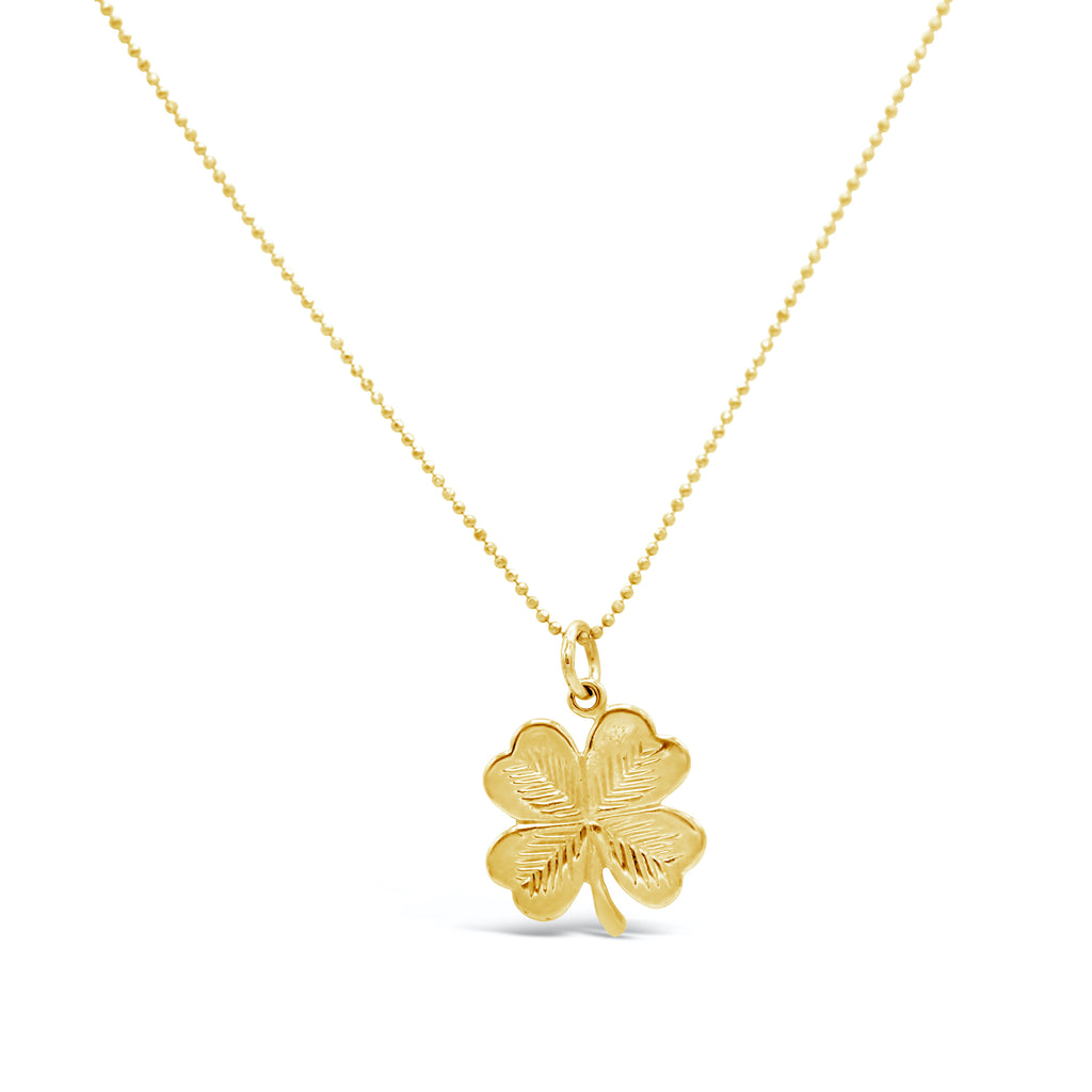Four Leaf Clover 14kt charm Necklace