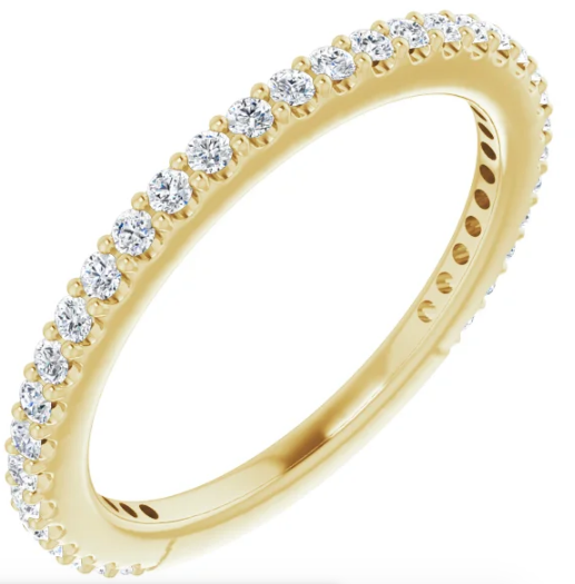 14K 1/3 CTW Diamond Stackable Ring Available in Rose Gold, Yellow Gold and White Gold and Diamonds