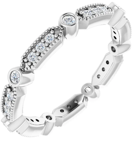 14K  Ring 1/4 CTW Diamond Eternity Band available in White Gold and Yellow Gold