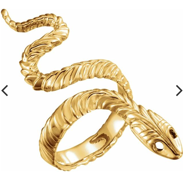 14K Yellow Snake Ring