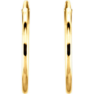 14K 15mm Endless Hoop Earrings