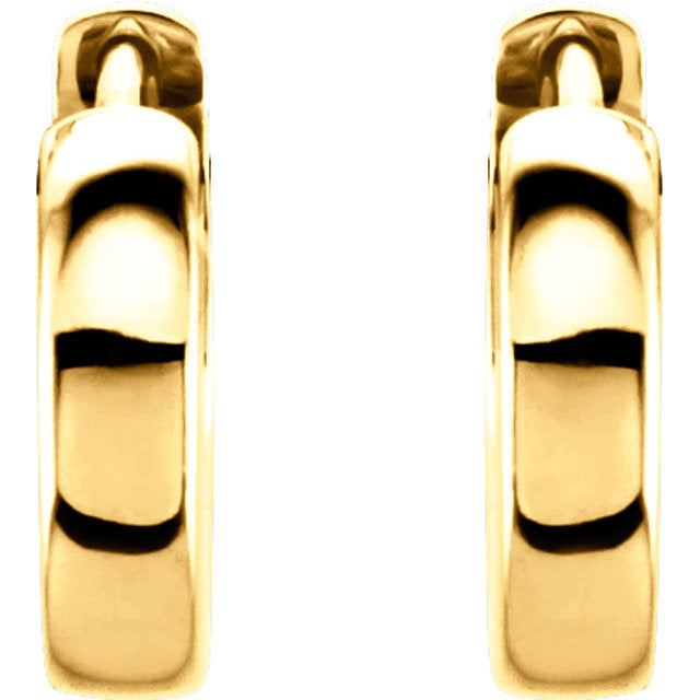 14K 14mm Hinged Hoop Earrings