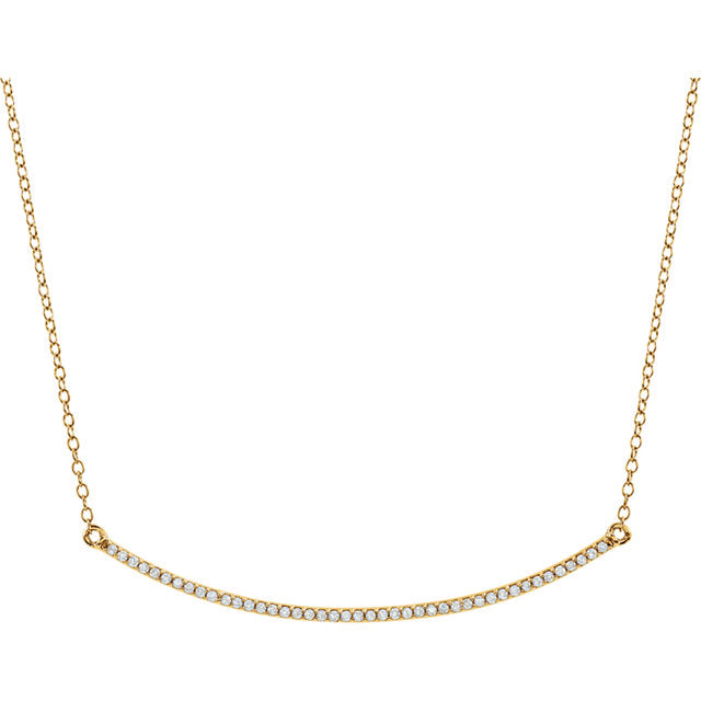 Necklace 14k Diamond Climb