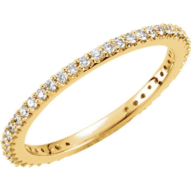 14k Eternity Diamond Ring