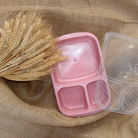 Wheat Straw Lunch Box - 3 Compartments