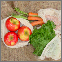 Reusable Cotton Mesh Produce Bags