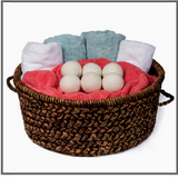 Wool Dryer Balls - 6 pack - Reusable Natural Laundry Softener