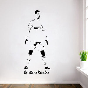 Removable wall decal sticker the7signatures cristiano ronaldo soccer player stickerposters voltagebd Choice Image