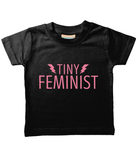 Tiny Feminist Baby/Toddler T Shirt Pink Logo