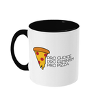 Pro Choice Pizza Feminism Two Toned Mug