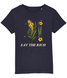 Eat The Rich Botanical Navy Kids Shirt (3 - 14 Y)