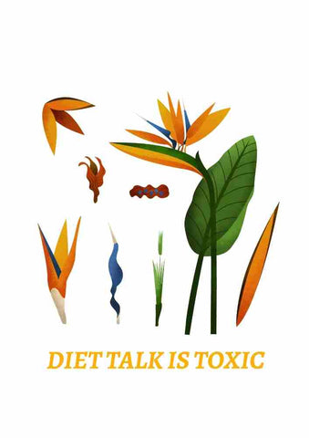 Diet Talk Is Toxic Printable Wall Art