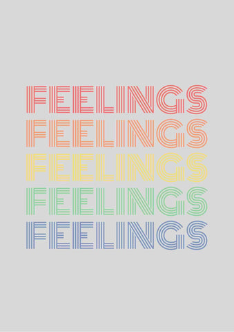 FEELINGS Rainbow Printable Wall Art