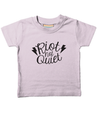 Riot Not Quiet Baby/Toddler T Shirt Black Logo