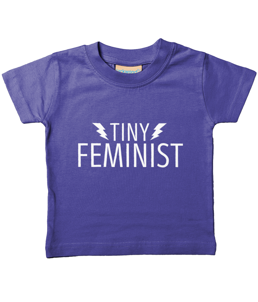Tiny Feminist Baby/Toddler T Shirt White Logo