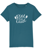 Riot Not Quiet Kids T Shirt White Logo