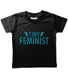 Tiny Feminist Baby/Toddler T Shirt Blue Logo