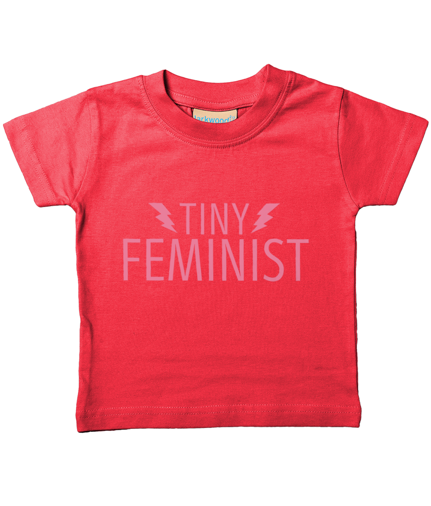 Tiny Feminist Pink Logo Baby/Toddler T-Shirt (5 Colours) NEW BOLTS