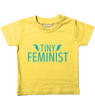 Tiny Feminist Blue Logo Baby/Toddler T-Shirt (5 Colours) NEW BOLTS