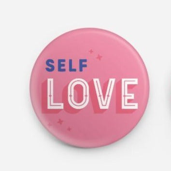 Self Love Badge Pin