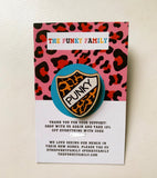 Punky Leopard Badge Wood Pin