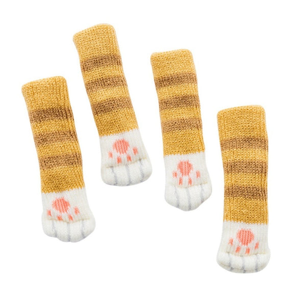 4 Piece Chair Leg Cat Scratch Protector Socks