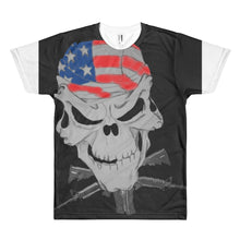 American pride skull Short sleeve men's t-shirt