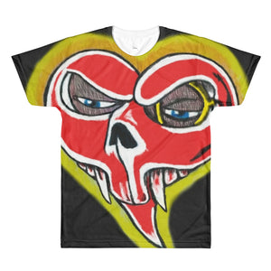 #loveskull with skullie on back All-Over Printed T-Shirt