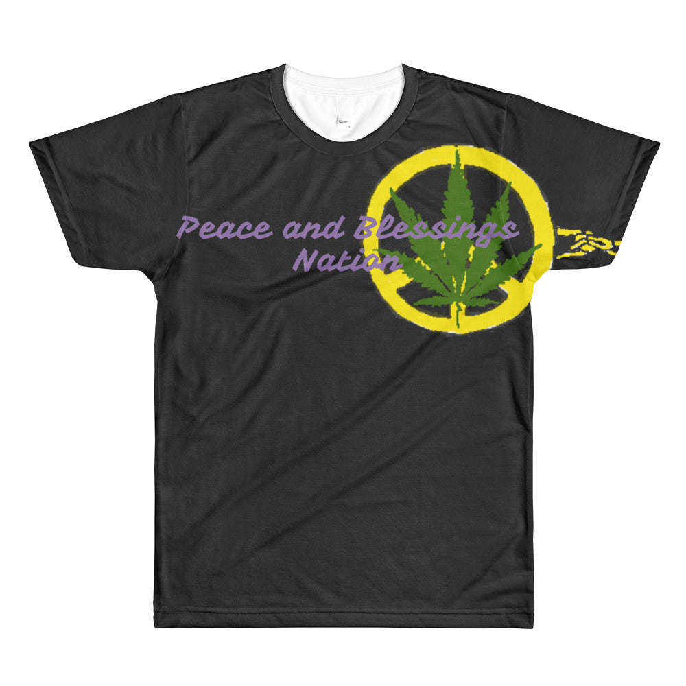 Peace and blessings monacle All-Over Printed T-Shirt