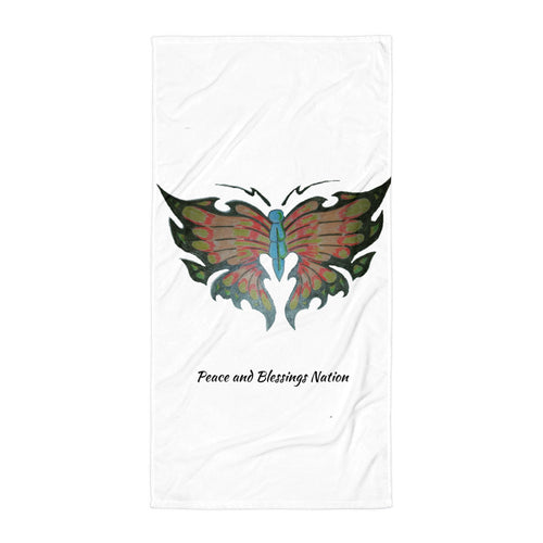 Butterfly  peace and blessings nation Towel