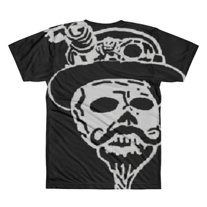 Steampunk skull with logo on backAll-Over Printed T-Shirt