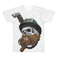 Steampunk skull with logo on back All-Over Printed T-Shirt