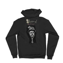 Zombie  reverend with Steampunk skullie logo on backHoodie sweater