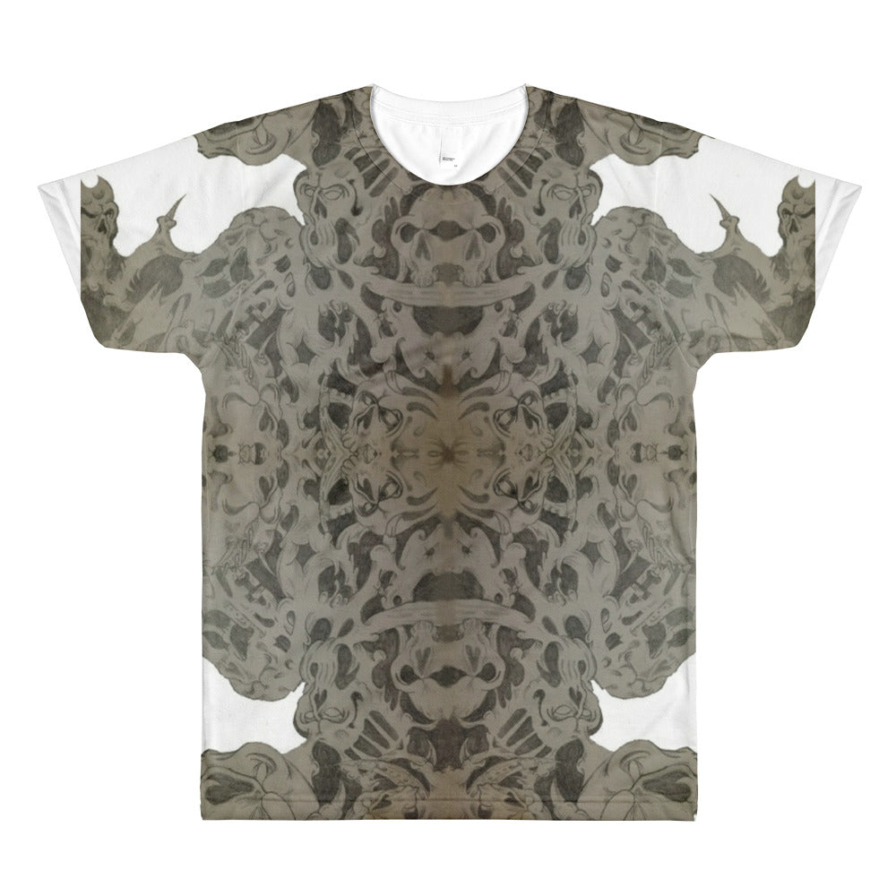 Skulls design All-Over Printed T-Shirt