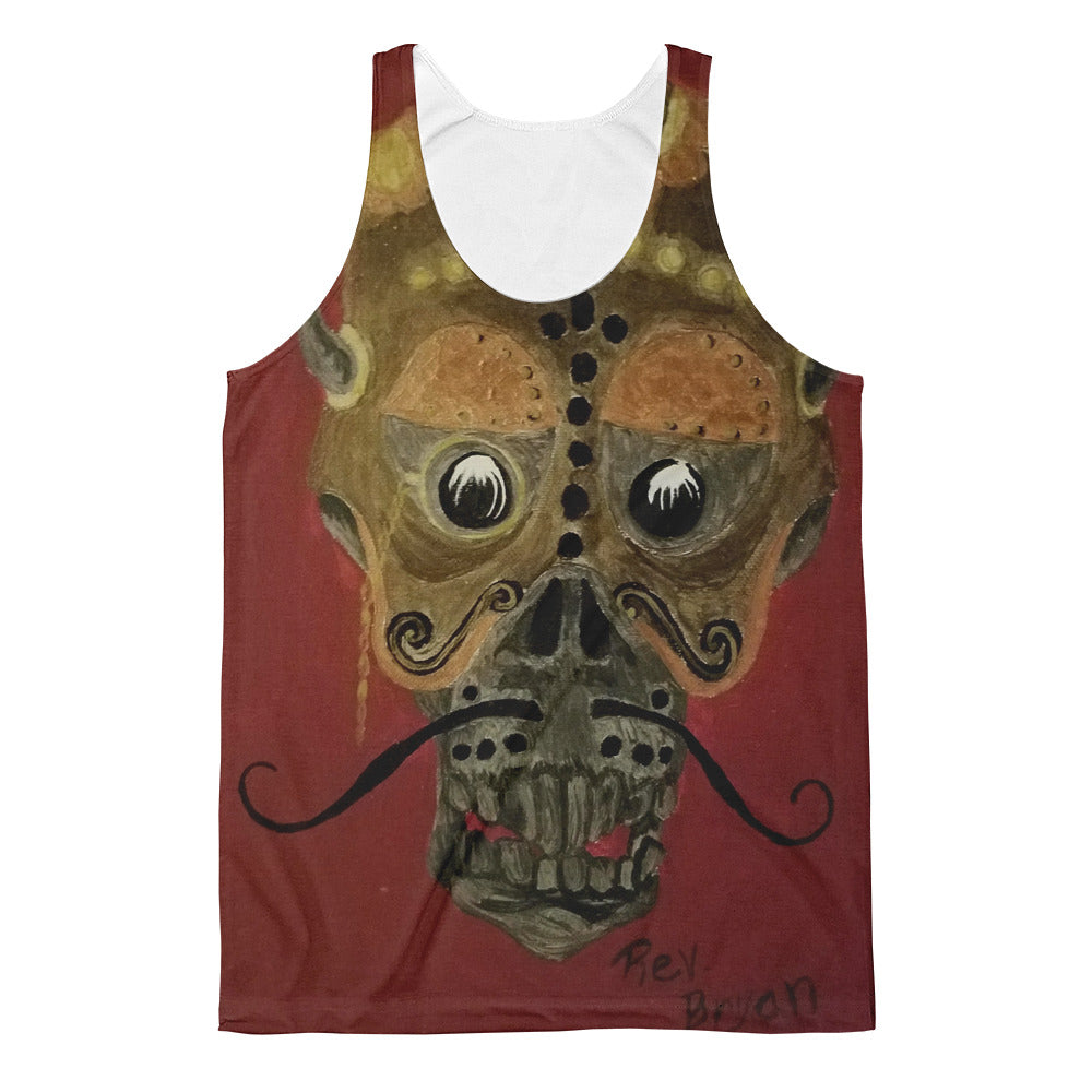 Mustache skull Unisex Classic Fit Tank Top