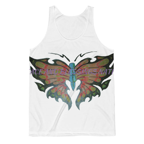 Butterfly  peace and blessings nation Unisex Classic Fit Tank Top