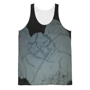 Fallen angel with skullie on back Unisex Classic Fit Tank Top