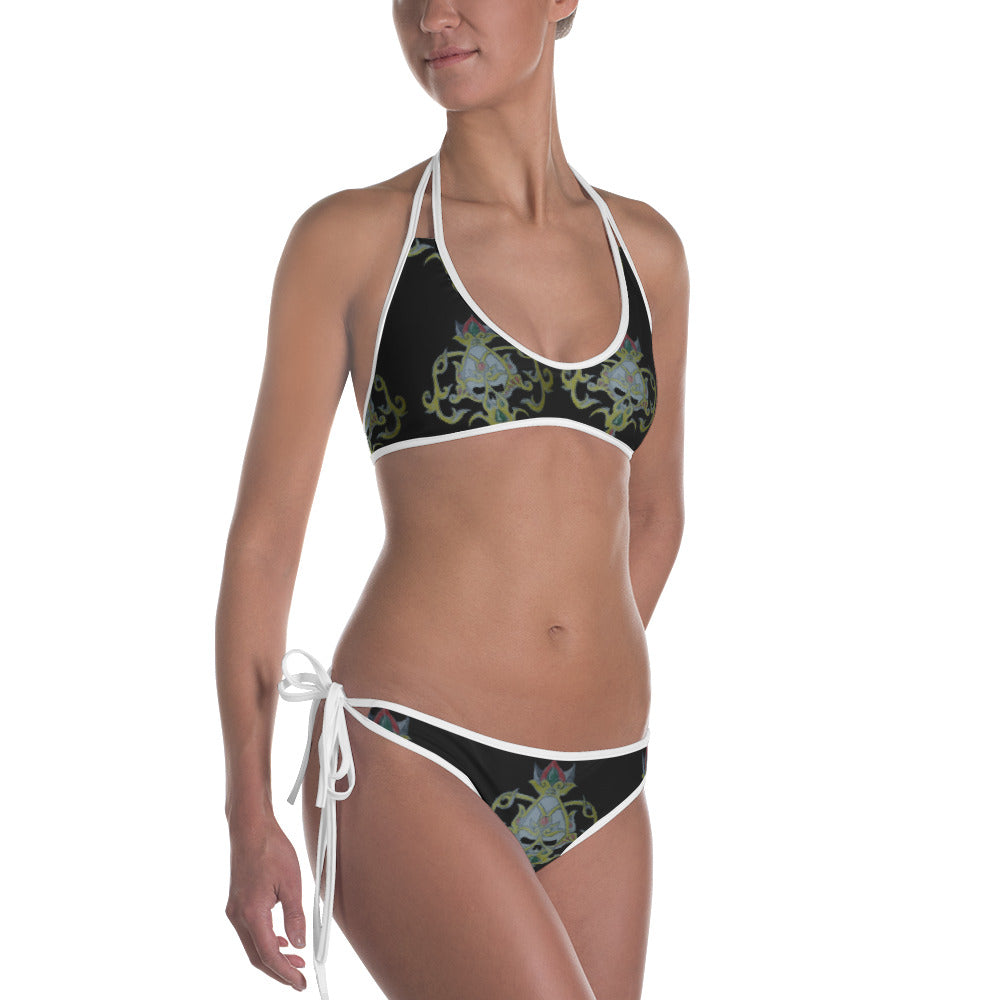 Gold skull peace and blessings  nation  Bikini