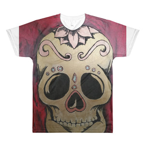 Voodoo skull with Steampunk Reverend logo on back All-Over Printed T-Shirt