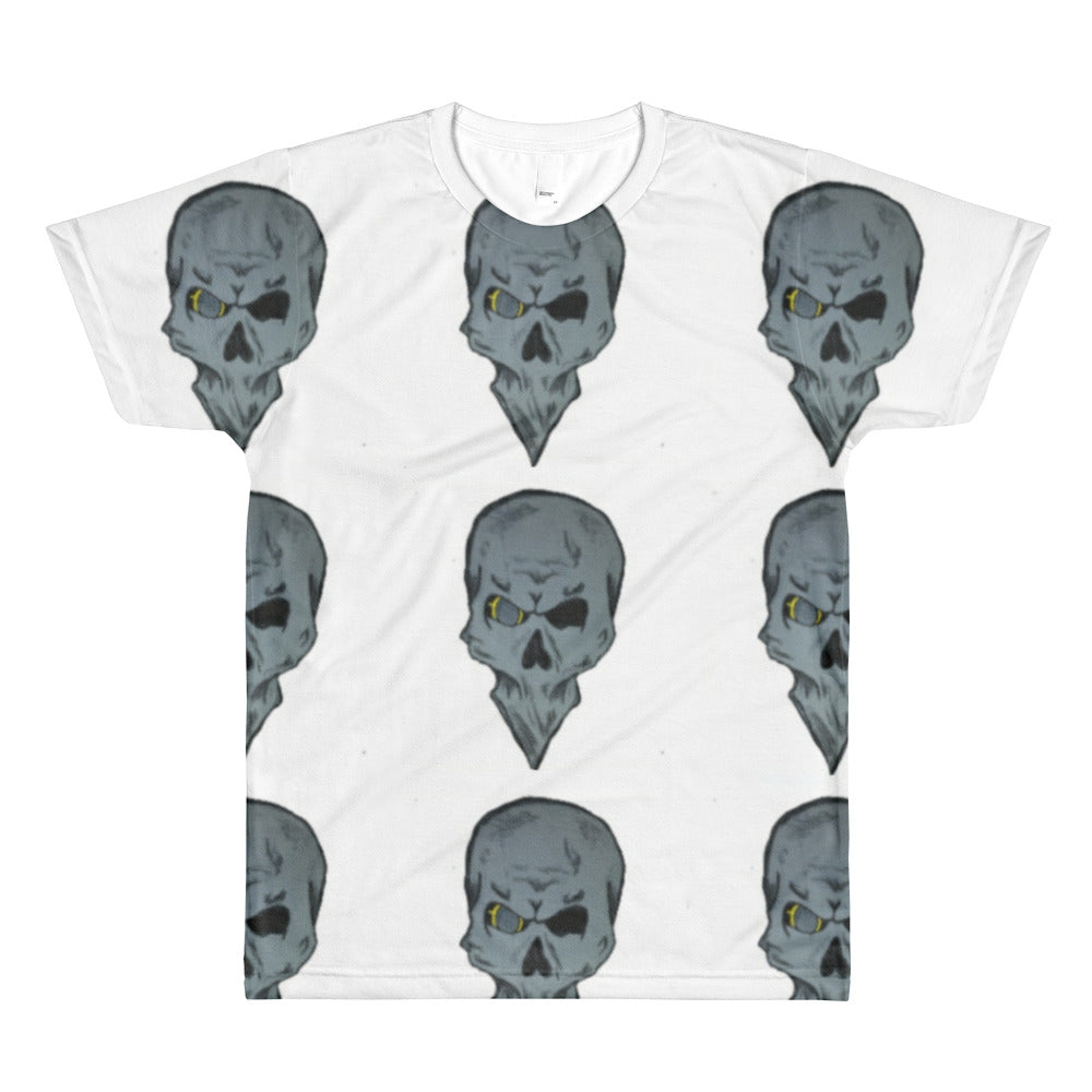 Pointed skull All-Over Printed T-Shirt