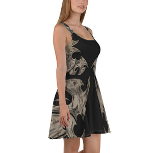Tribal  Steampunk skull     Skater Dress