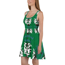 Green tribal  Skater Dress