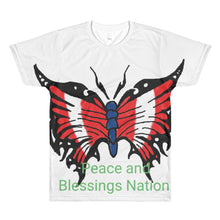 USA butterfly design All-Over Printed T-Shirt