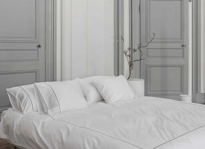 Percale signature embroidery set
